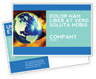 Business: Troubled World Postcard Template #04349