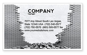 Consulting: Broken Wall Business Card Template #04351