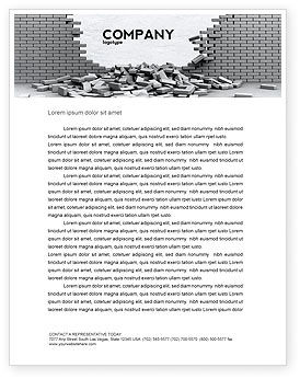 Broken Wall Letterhead Template