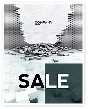 Broken Wall Sale Poster Template, 04351, Consulting — PoweredTemplate.com