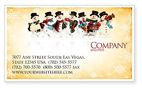 Snowmen Orchestra Business Card Template