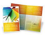 Business: Plantilla de folleto - papel de color #04355