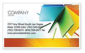 Business: Color Paper Business Card Template #04355