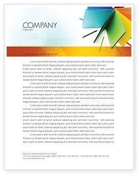 Business: Color Paper Letterhead Template #04355