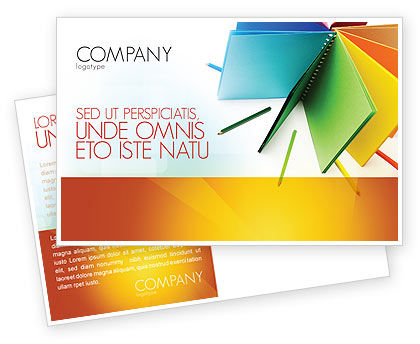 Color Paper Postcard Template