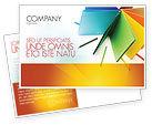 Business: Color Paper Postcard Template #04355