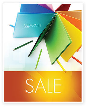 Color Paper Sale Poster Template, 04355, Business — PoweredTemplate.com