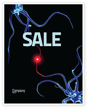 Communicating Neurons Sale Poster Template, 04356, Medical — PoweredTemplate.com