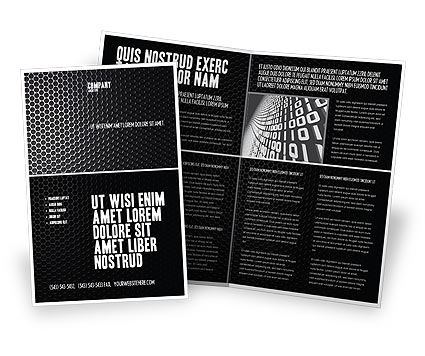 Black grid brochure template design and layout download for Black brochure template