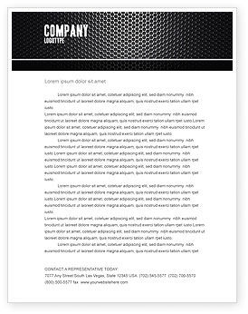 Black Grid Letterhead Template, 04358, Abstract/Textures — PoweredTemplate.com