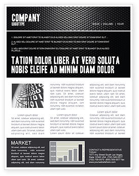 black grid newsletter template for microsoft word adobe indesign
