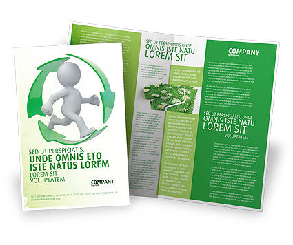 Recycling Circle Brochure Template, 04362, Business Concepts — PoweredTemplate.com