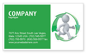 Business Concepts: Recycling Circle Business Card Template #04362