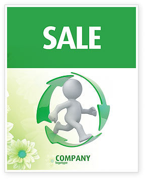 Recycling Circle Sale Poster Template, 04362, Business Concepts — PoweredTemplate.com