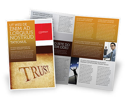 Financial/Accounting: Trust Brochure Template #04364