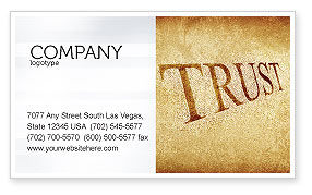 Financial/Accounting: Trust Business Card Template #04364