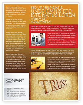 Trust Flyer Template, 04364, Financial/Accounting — PoweredTemplate.com