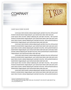Financial/Accounting: Trust Letterhead Template #04364