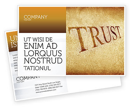 Trust Postcard Template, 04364, Financial/Accounting — PoweredTemplate.com