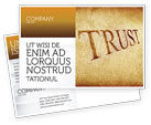 Financial/Accounting: Trust Postcard Template #04364