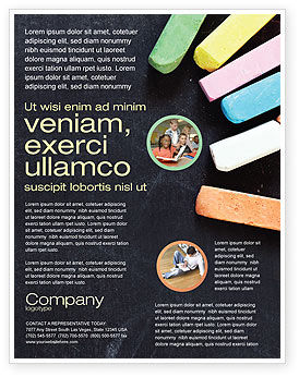 Chalk Flyer Template, 04365, Education & Training — PoweredTemplate.com