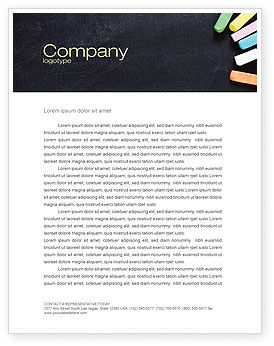 Chalk Letterhead Template, 04365, Education & Training — PoweredTemplate.com