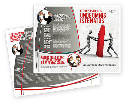 Resistance Brochure Template, 04366, Business Concepts — PoweredTemplate.com