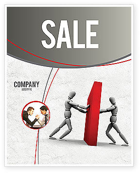 Resistance Sale Poster Template, 04366, Business Concepts — PoweredTemplate.com