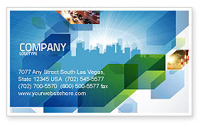 Business: City Scenery Business Card Template #04370