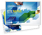 Business: Stadslandschap Ansichtkaart Template #04370