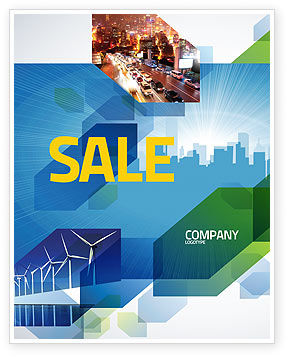 City Scenery Sale Poster Template, 04370, Business — PoweredTemplate.com
