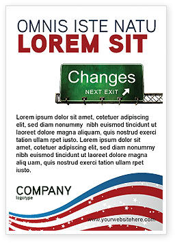 Business Concepts: Sign Change Ad Template #04371