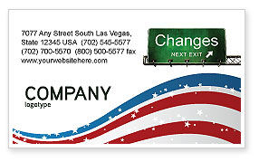 Sign Change Business Card Template, 04371, Business Concepts — PoweredTemplate.com