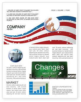 Business Concepts: Sign Change Newsletter Template #04371