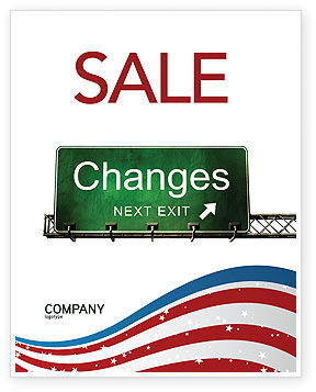Sign Change Sale Poster Template, 04371, Business Concepts — PoweredTemplate.com