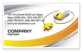 Computer Mouse Connection Business Card Template, 04372, Technology, Science & Computers — PoweredTemplate.com