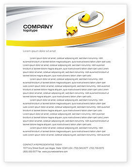 Computer Mouse Connection Letterhead Template, 04372, Technology, Science & Computers — PoweredTemplate.com