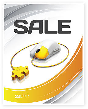 Computer Mouse Connection Sale Poster Template, 04372, Technology, Science & Computers — PoweredTemplate.com