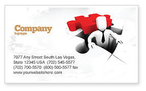 Business Concepts: Business Crisis Solution Business Card Template #04375