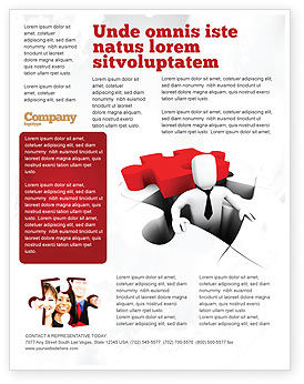 Business Concepts: Business Crisis Solution Flyer Template #04375