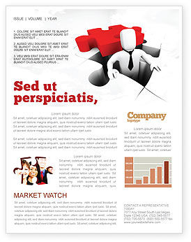 Business Concepts: Business Crisis Solution Newsletter Template #04375
