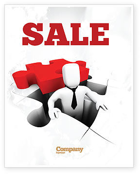 Business Crisis Solution Sale Poster Template