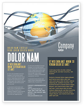 Global: World Global Tendencies Flyer Template #04376