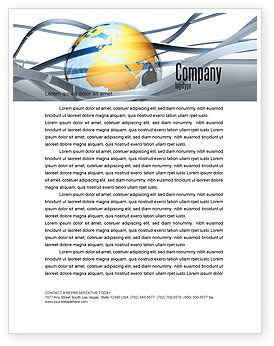 World Global Tendencies Letterhead Template, 04376, Global — PoweredTemplate.com