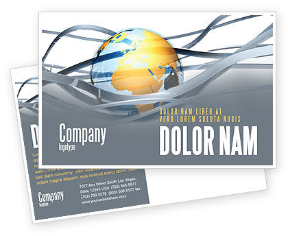 World Global Tendencies Postcard Template, 04376, Global — PoweredTemplate.com