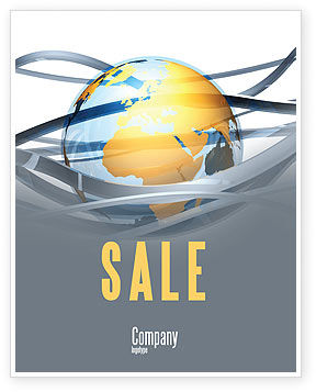 World Global Tendencies Sale Poster Template, 04376, Global — PoweredTemplate.com