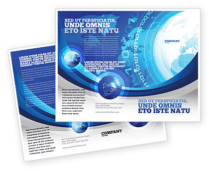 Developed network brochure template design and layout for Information brochure template