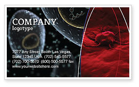 Cancer Cell Business Card Template, 04381, Medical — PoweredTemplate.com
