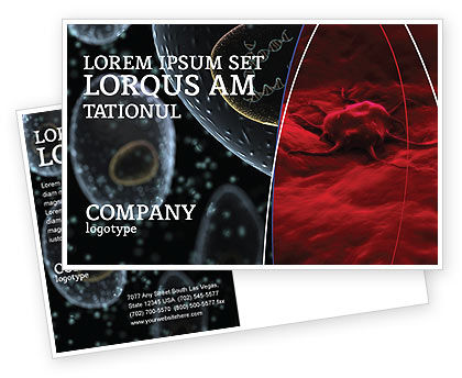 Cancer Cell Postcard Template