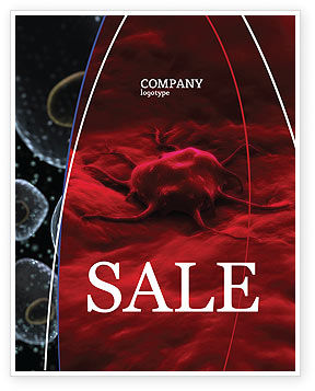 Medical: Cancer Cell Sale Poster Template #04381